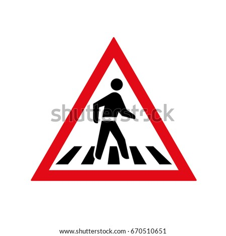 Botswana, Lesotho, Namibia, South Africa, Swaziland and Tanzania pedestrian crossing sign