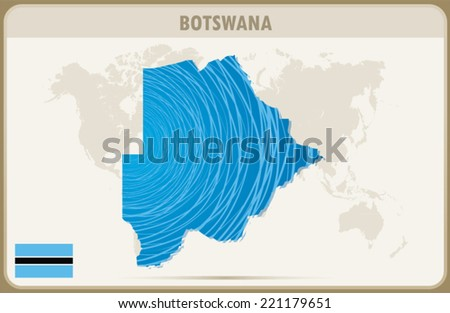 BOTSWANA map graphic design, Vector.