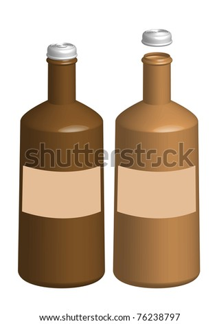 bottle - stock vector