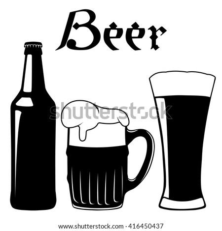 bottle glass beer vector illustration stock vector 416450437 rh shutterstock com beer vector mechanics beer vector mechanics solutions pdf