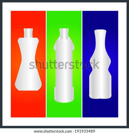 bottle and packaging set of perfume bottles vector format