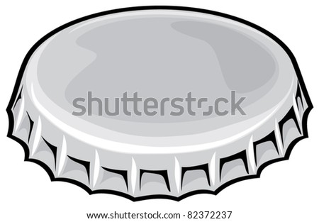 bottle cap stock vector 2018 82372237 shutterstock rh shutterstock com Bottle Cap Clip Art Black and White plastic bottle cap clipart