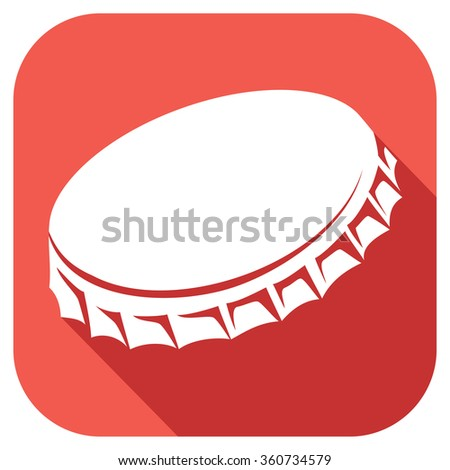 bottle cap flat icon - stock vector