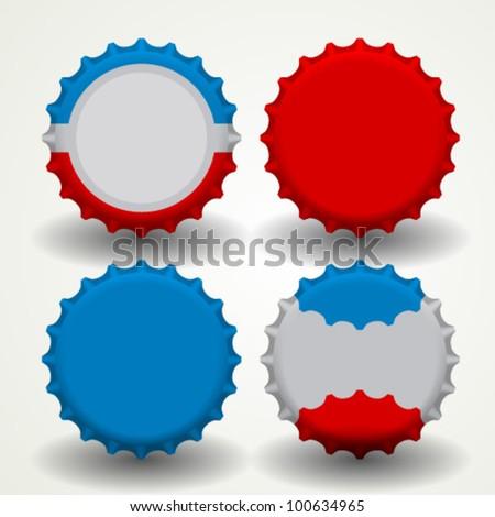 Bottle caps vector - stock vector