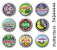 bottle caps 8 - vector set - stock vector