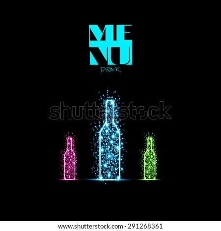 Bottle design background you can easy editable - stock vector