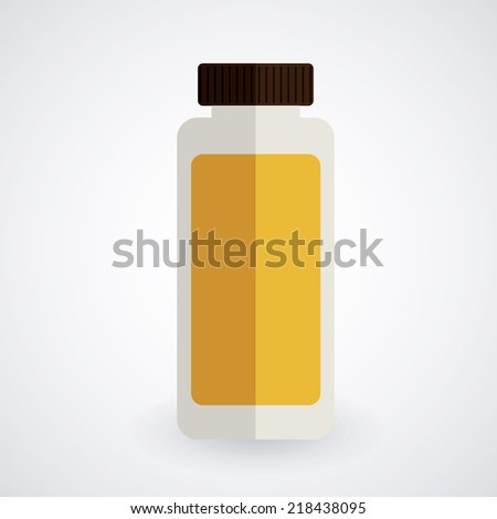 Bottle design over white background, vector illustration