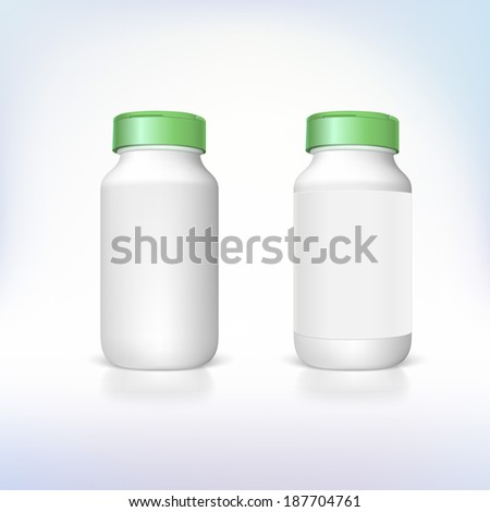 Bottle for dietary supplements and medicines. Vector templates for your presentation and design. - stock vector