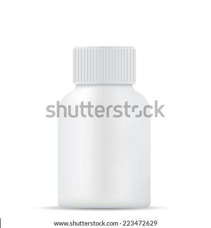 Bottle isolated on white background - stock vector