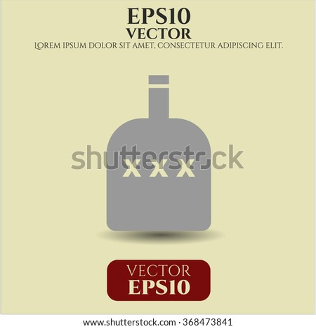 Bottle of alcohol icon - stock vector
