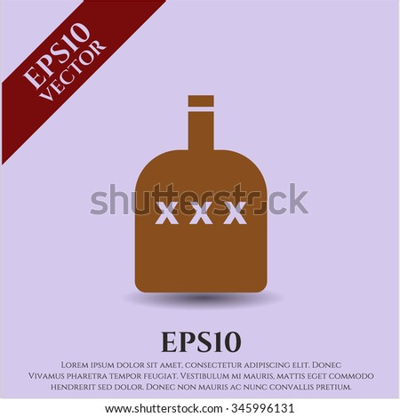 Bottle of alcohol icon or symbol - stock vector