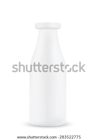 Bottle of milk isolated on white background - stock vector