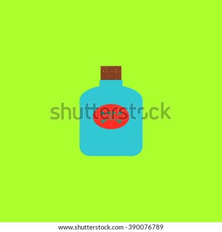Bottle of poison. Flat simple modern illustration pictogram. Collection concept icon for infographic project and logo - stock vector