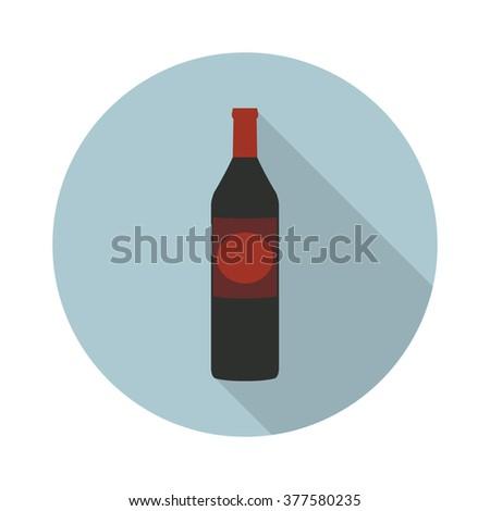 bottle of rum icon. vector illustration - stock vector