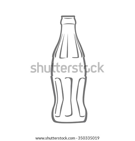 Bottle of soda.  Flat Vector.