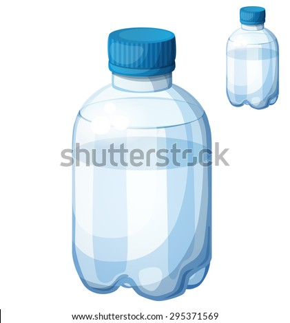 Bottle of water. Detailed vector icon isolated on white background. Series of food and drink and ingredients for cooking.