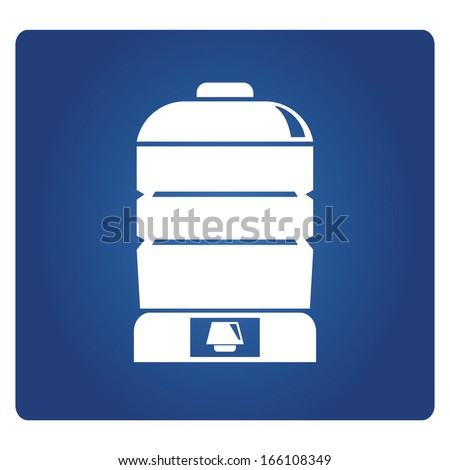 bottle of water symbol - stock vector