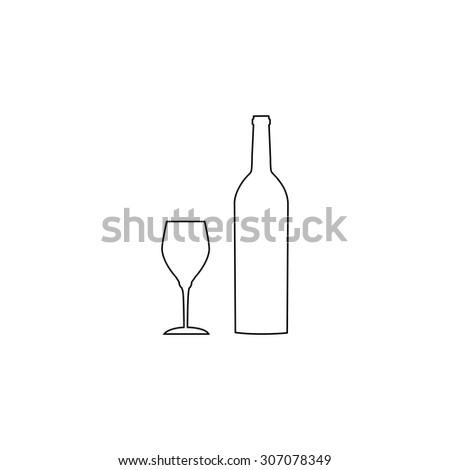 Glass bottle outline