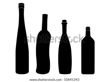 Bottle silhouettes.