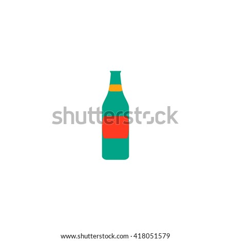Bottle Simple flat vector icon - stock vector