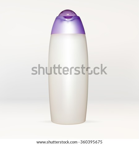 bottle tube of cream, lotion, white, empty, for applying your advertisement isolated vector new clean - stock vector