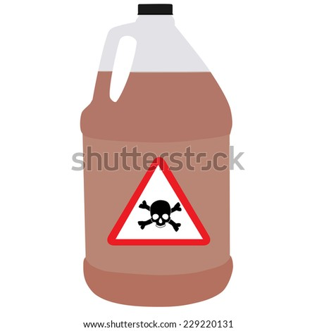Bottle vector, bio-hazard symbol, toxic symbol, biochemical - stock vector