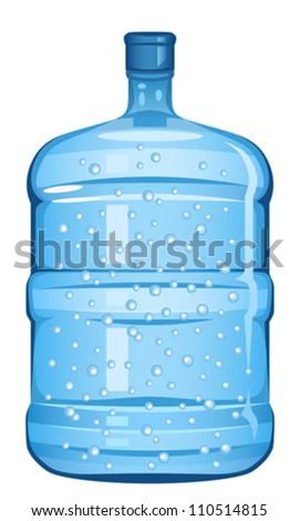 Bottle water - stock vector