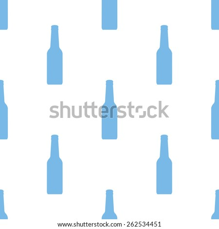 Bottle white and blue seamless pattern for web design. Vector symbol