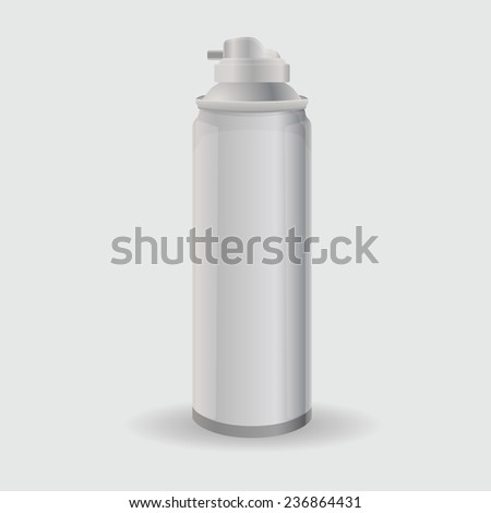 bottle with foam or shaving gel - stock vector