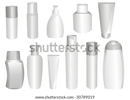 bottles and flacons - stock vector