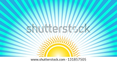 Bottom Sun Sunrise - stock vector