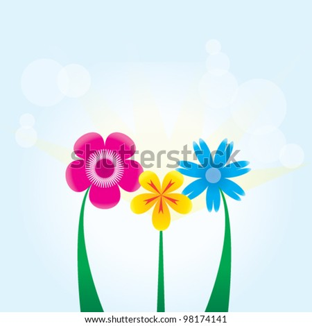 Bouquet of flowers. - stock vector