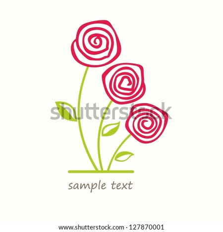 Bouquet of flowers. Vector illustration with roses. - stock vector