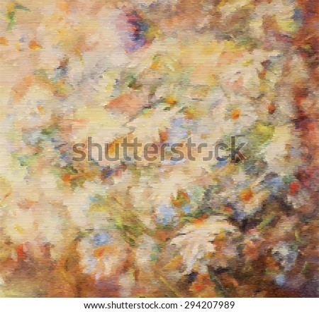 Bouquet of white and yellow flowers. Vector oil painting - stock vector