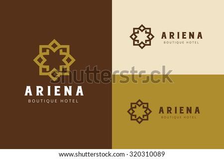 Boutique hotel logo,Hotel Logo,Vintage logo,Vector logo template - stock vector