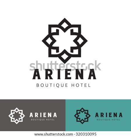 Modern crest stock images royalty free images vectors for Boutique hotel logo