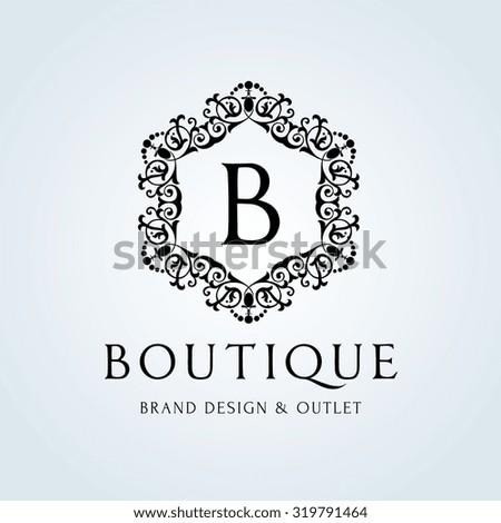 Boutique Logo B Letter Logo Luxury Stock Vector 319791464 ...