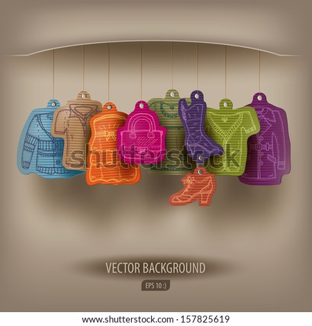 Boutique. Vector illustration - stock vector