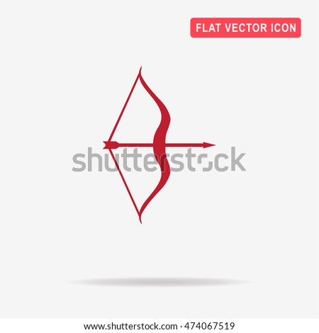 Bow and arrow icon. Vector concept illustration for design.