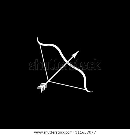 Bow and Arrow   - vector icon - stock vector