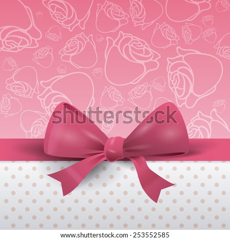 bow decoration design, vector illustration eps10 graphic  - stock vector