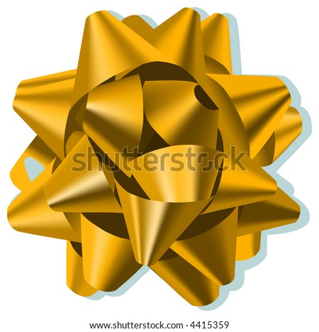 Bow Gold - stock vector