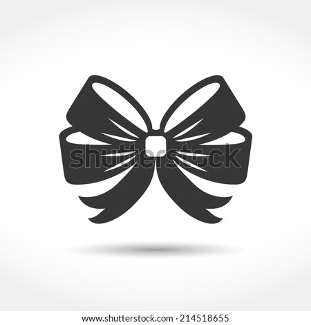 Bow icon, vector eps10 illustration - stock vector