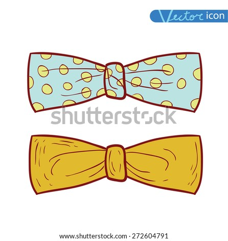 Bow Tie icon, vector illustration. - stock vector