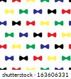 Bow Tie Seamless Pattern - stock vector
