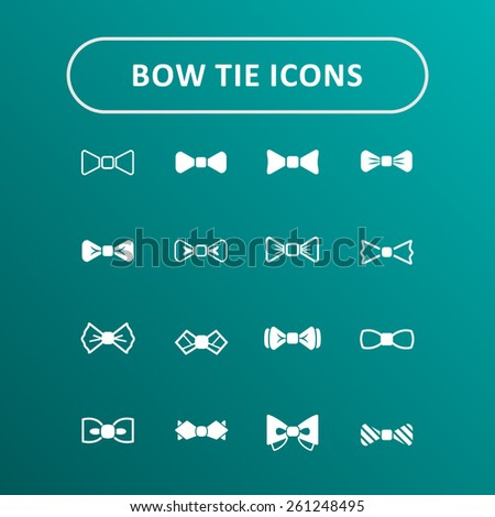 Bow tie vector icons - stock vector