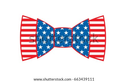 bow tie usa flag vector illustration stock vector royalty free rh shutterstock com Transparent Bow Tie Vector Bow Tie Outline