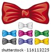 bow ties collection  - stock vector
