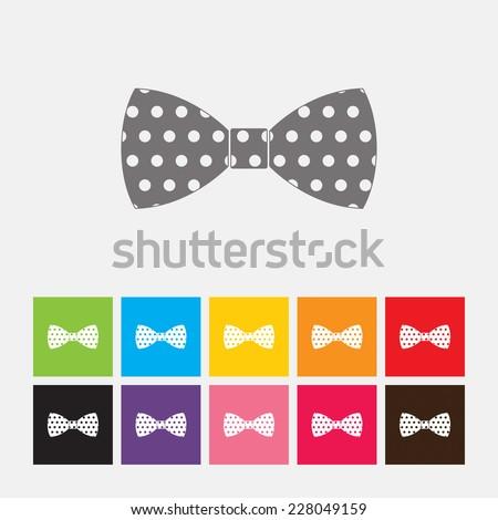 Bow ties icon - Vector - stock vector