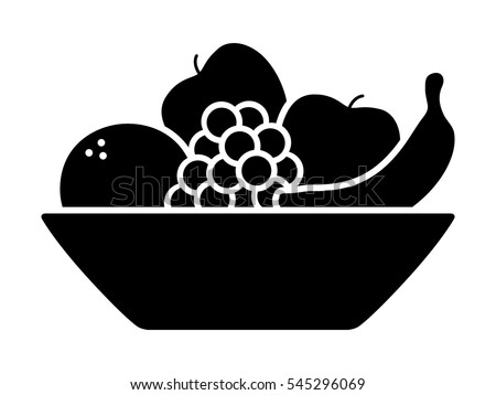 Bunch Wine Grapes Leaf Flat Color Stock Vector 364452056 ...